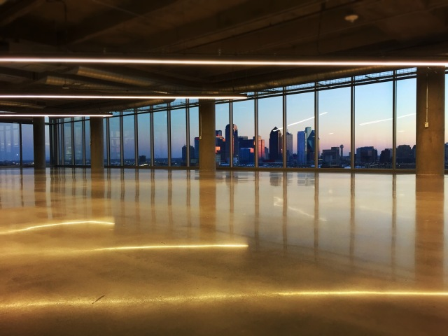 Expansion-ready open space and gorgeous sunset view of Downtown Dallas