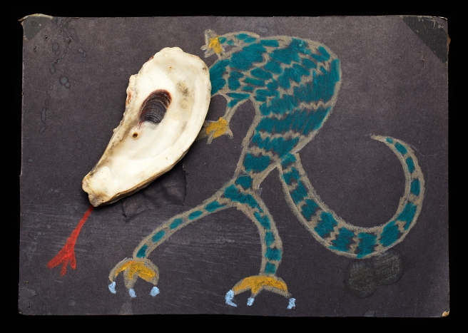 Shell art created by Thomas (Tom) Wilson Laney, Sr in the 1970s, 1980s? As his young grandchild, I can remember going to the beach and picking out shells to take home that looked like something we could draw a picture with. At the time, he and my grandmother Christine Dickie Laney lived in West Columbia, Tx (Southwest of Houston.)
